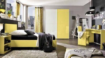 Camera da letto completa gialla