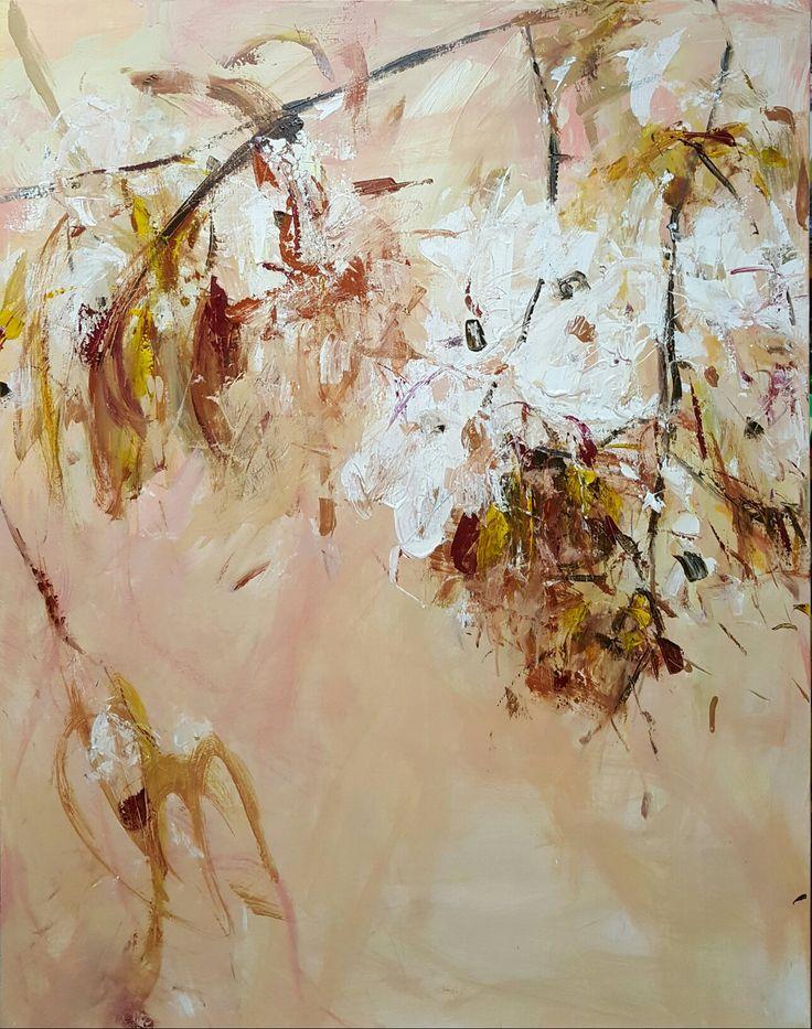 pear flowers 116.8 x 91cm acrylic on canvas