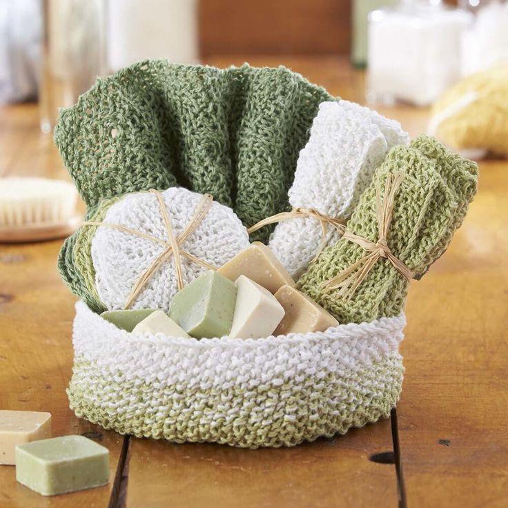 Knit Aubrey Spa Set [FREE Knitting Pattern]