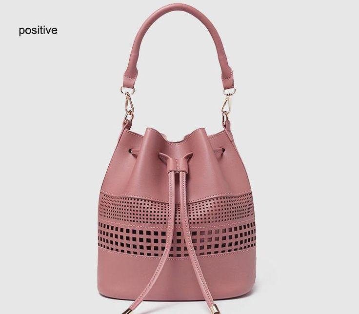 Perforated Bucket Shoulder Bag Lida + purse 5 colors – Floral Cat