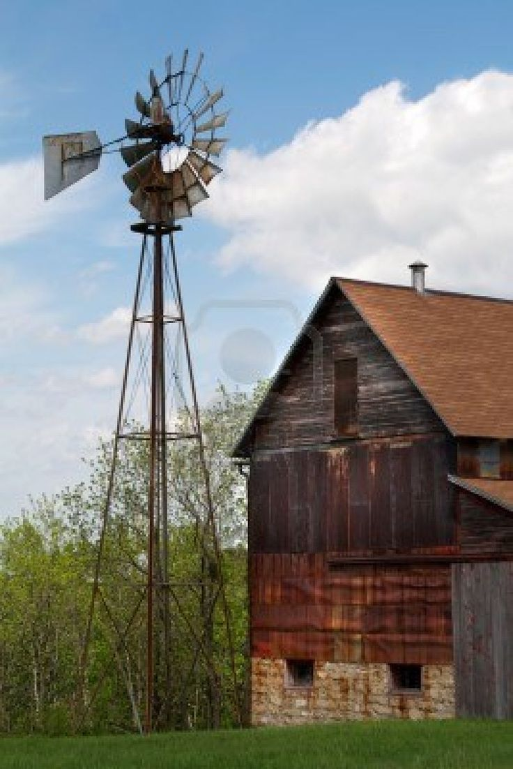 Abandoned barn and windmill. I want a windmill like this one for the farm.