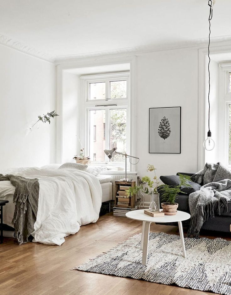 Studio Apartment Decoration & Design Ideas with The Advantages - cool studio apartment with scandinavian style ideas on a budget (30)