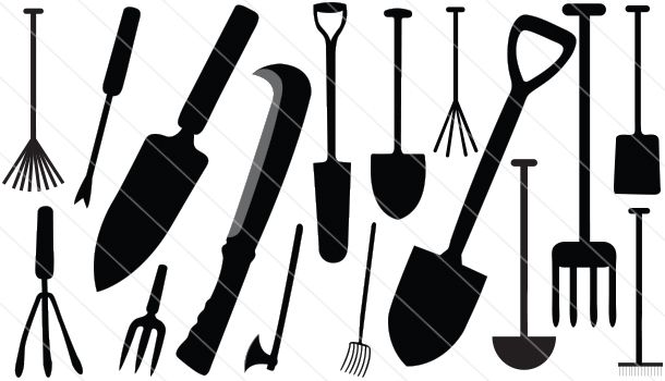 Agriculture Tools Silhouette Vector (16)