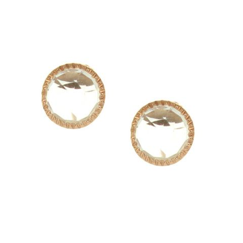 MINI ACCEPT STUD EARRINGS - WHITE TOPAZ & ROSE GOLD | Buy So Pretty Jewelry Online & In Stores