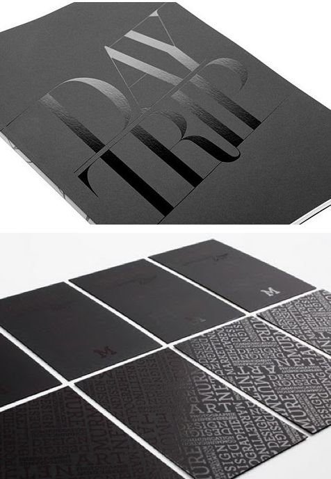 beautiful typography & printing techniques - spot varnish on mate