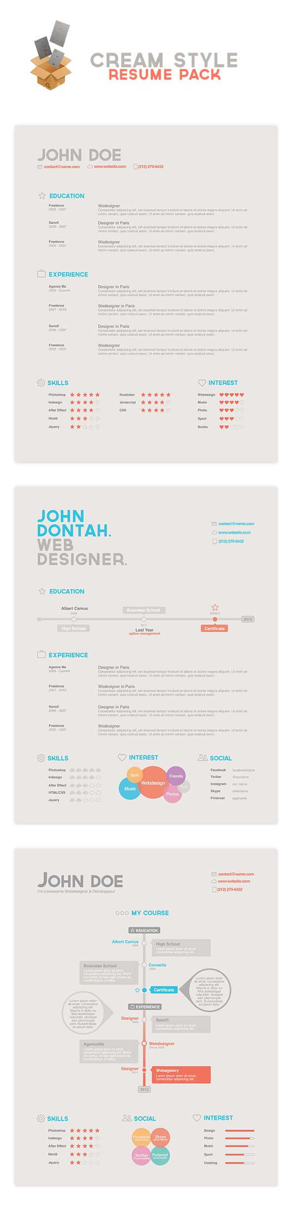 Resume Headers 103 Best Resume Design Images On Pinterest  Resume Design Resume .