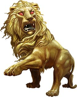 Golden Lion (Beast)(Large) – The pelt of the Golden Lion is legendary, many heroes try to find one and test themselves by killing one of these golden skinned lions, but there is a catch, no weapon can pierce the skin of these creatures and the only way to kill one is to strangle it or to pierce their eyes or maws, and so only the most powerful warriors or skilled rangers make a chance against them. These are the Nemean Lions from legends and their manes are covered with arrows. (Greek)