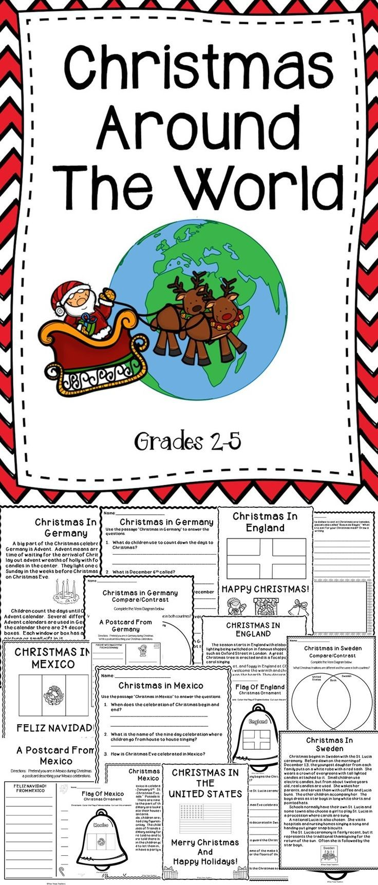 Christmas Around The World - This Christmas Around The World Bundle Includes Educational Activities To Use With Your Students During The Holiday Season.