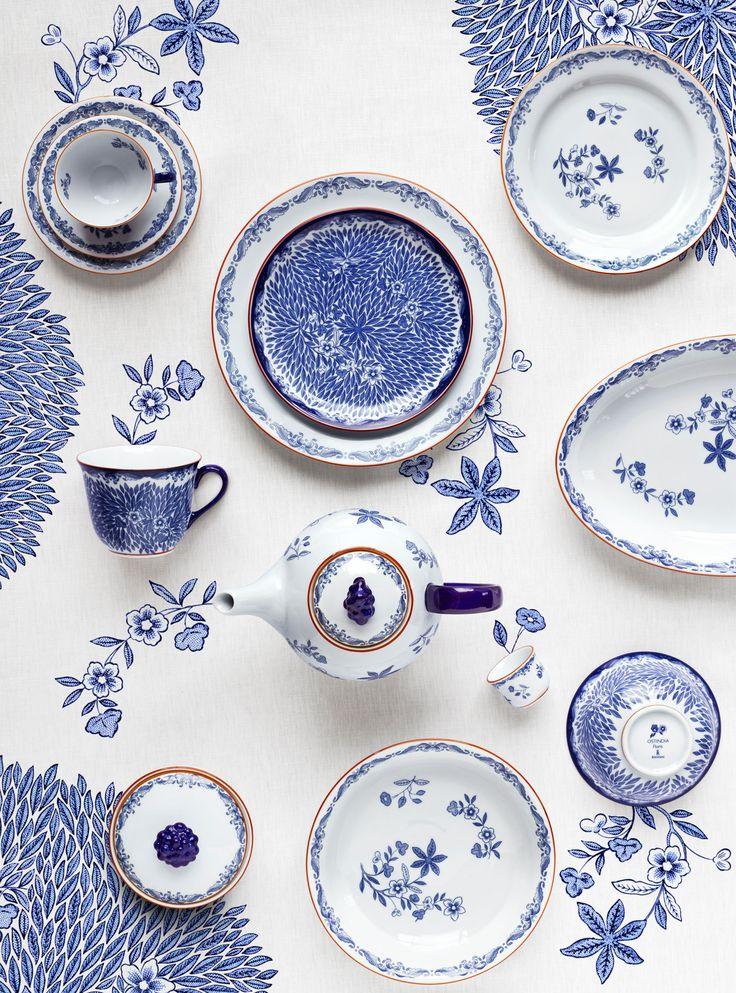 Ostindia Floris, 2012. Pattern design for Rörstrand, Sweden / via Caroline Slotte