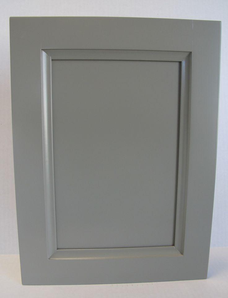 Grey Lacquered Transitional Door Style Door Drawer