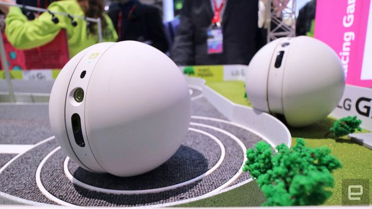 LG's cute Rolling Bot takes a casual stroll at MWC. LG has a new friend for its G5 flagship smartphone. LG named it Rolling Bot. Rolling Bot is cute, though right now it doesn't do very much. You can control it with a G5, but it moves very slow -- so slow. There's a laser in it, so your cat will probably love it. #MWC #MWC2016