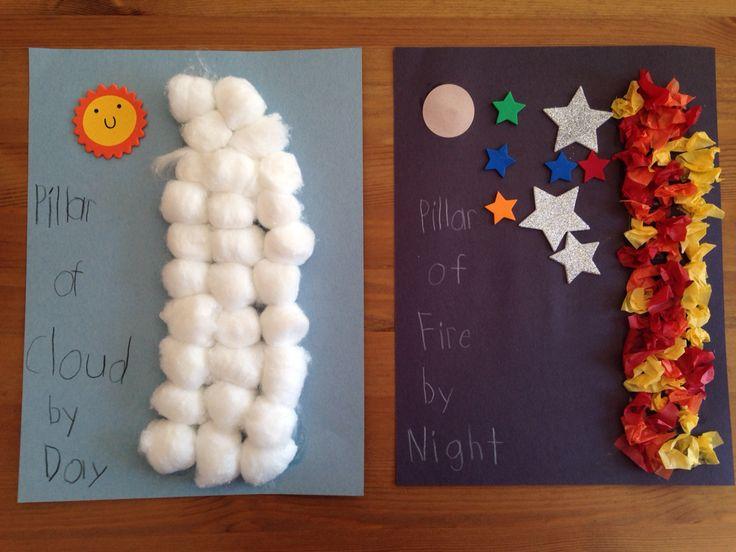 pillars of cloud and fire craft kindergarten craft bible craft kids craft moses craft