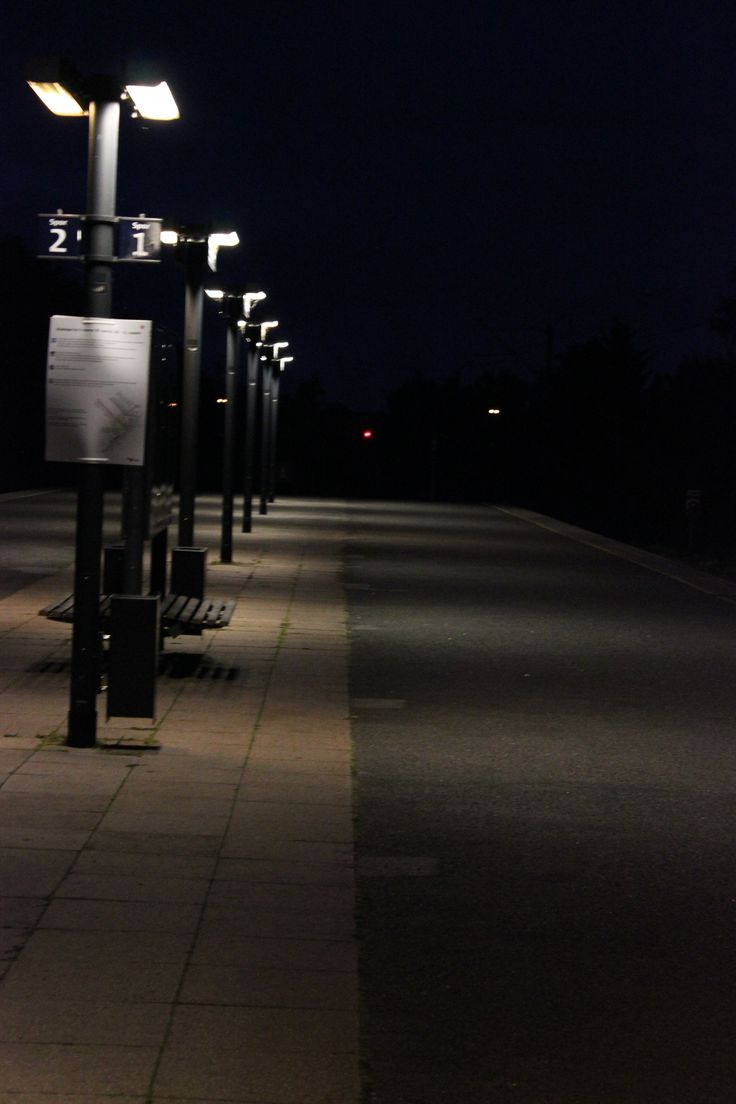 A late night at the station.