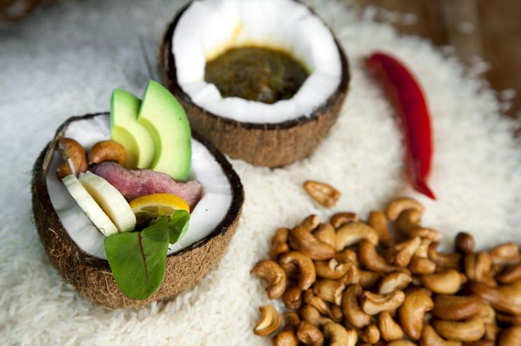 Thai Salad with Beef - is delicious combination of avocado, coriander, banana and cashew nuts!