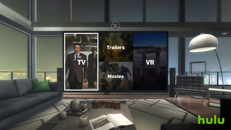 Hulu's Gear VR app puts you in a virtual viewing room. Your Gear VR just became a very personal TV. Hulu has launched an app for Samsung's virtual reality headset that lets you watch conventional movies and TV shows alongside native VR video from the likes of Discovery, National Geographic, Showtime and Hulu itself. If you're watching plain 2D content, the app will plunk you into a customizable virtual viewing space, whether it's a posh living room or the beach.