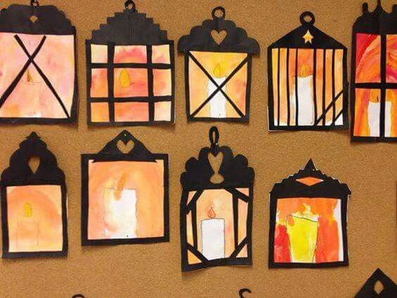 Watercolor lanterns