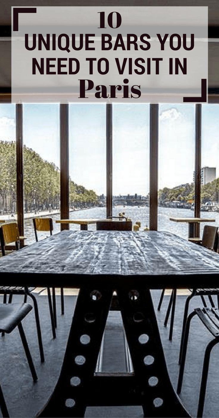 10 Unique Bars You Need To Visit In Paris