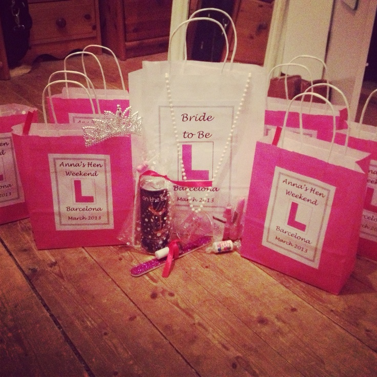 Treat your friends with hen do favour bags and let them know how much you appreciate them coming to your party!