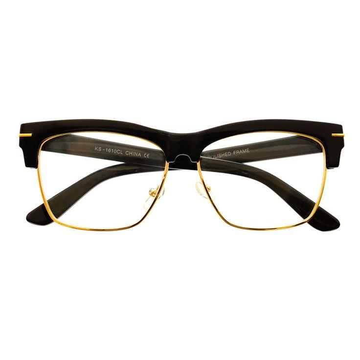 Retro Fashion Designer Clear Lens Half Frame Wayfarer Eyeglasses W1670 – FREYRS - Beautifully designed, cheap sunglasses for men & women