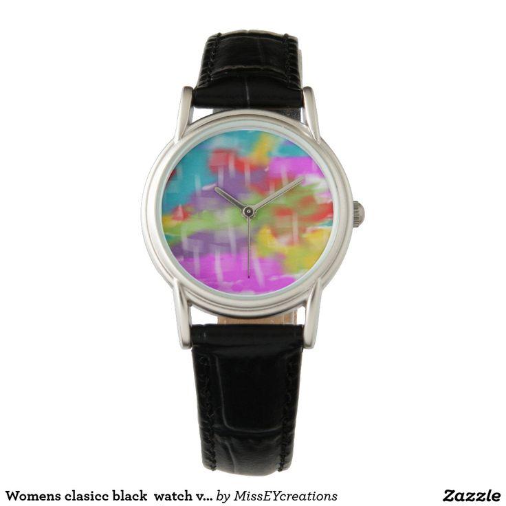 Conception vibrante de couleurs de montre de noir