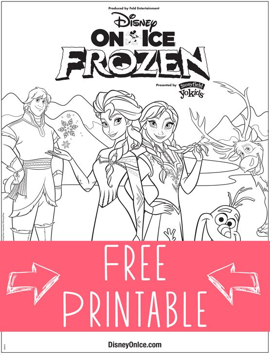 Disney On Ice Presents Frozen Free Coloring Page Printable