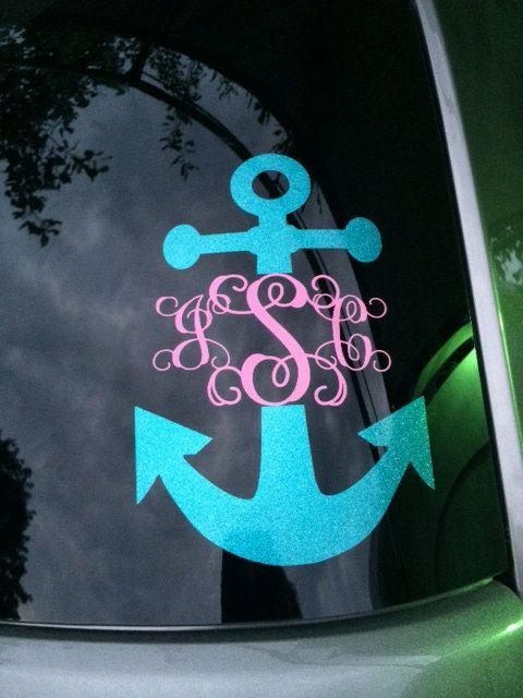 Best Vehicles Images On Pinterest Monogram Car Decals - Anchor monogram car decal