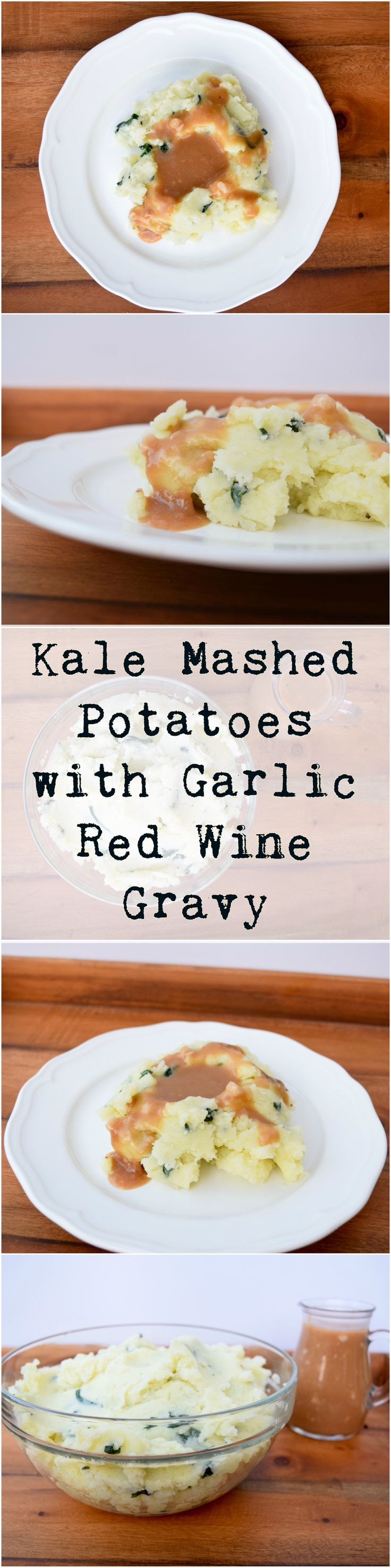 Creamy and smooth vegan mashed potatoes get a boost with amazing red wine and garlic gravy. Delicious!