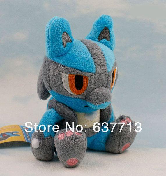 Pokemon Lucario Plush Toy Stuffed Doll 8 18cm Soft By