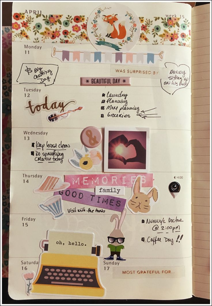 Week 15 on my hearty!! <3  #moleskine #bunnydori #planning #planneraddict