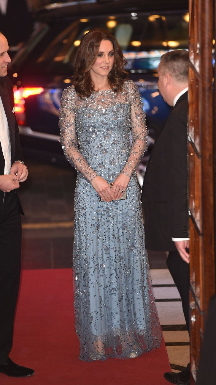 Kate Middleton Channeled Disney's Elsa For the Night in This Icy Blue Dress