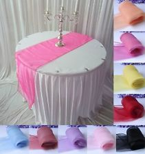 "Lot 10Pcs Sheer Organza Table Runner Wedding Party Banquet Decoration 12"" x 108"""