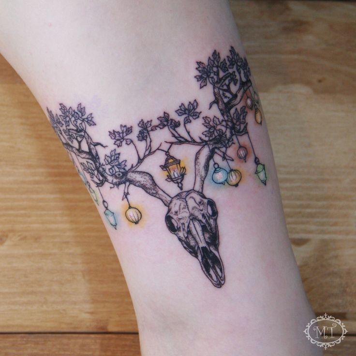 Custom design tattoo by Melek Taştekin #tattoo #tattoos #deertattoo #deertattoodesign #deer #dotworktattoo #dotwork #tattoodesign #art #artwork #dövme #armtattoo #tattooer #tattoomagazine #tattoomag #tattoolovers #tats #tatu #sketch