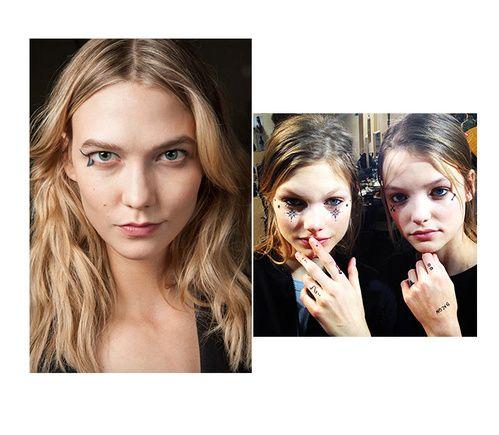 Impression tatouée http://www.vogue.fr/beaute/tendance-des-podiums/diaporama/fwah2015-les-12-tendances-maquillage-de-la-fashion-week-automne-hiver-2015-2016/19615/carrousel#teint-over-tan