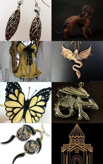 Black gold by Marina Filimonova on Etsy--Pinned with TreasuryPin.com