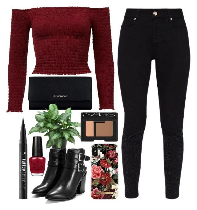 """""""Love"""" by hmastyle on Polyvore featuring Givenchy, Ted Baker, Nasty Gal, iDeal of Sweden, Kat Von D and NARS Cosmetics"""