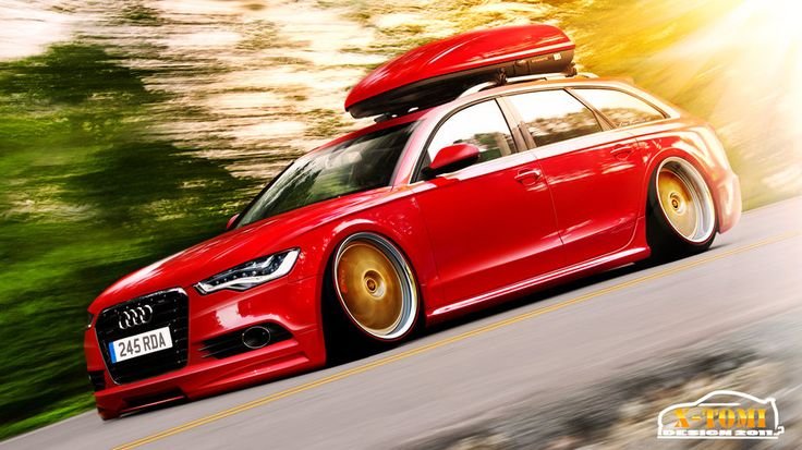 Audi A6 3.0TDI Avant Hellaflush by x-tomi.deviantart.com on @deviantART