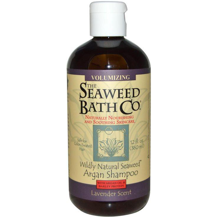 Seaweed Bath Co., Wildly Natural Seaweed Volumizing Argan Shampoo, Lavender Scent, 12 fl oz (360 ml)