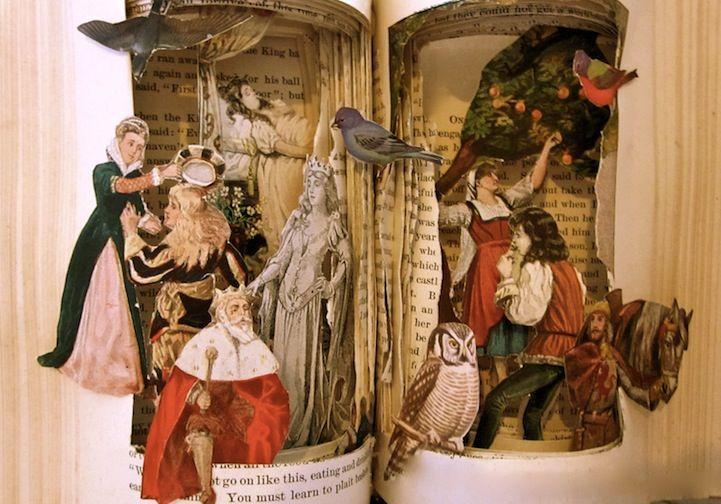 Arte com Livros de contos de fadas