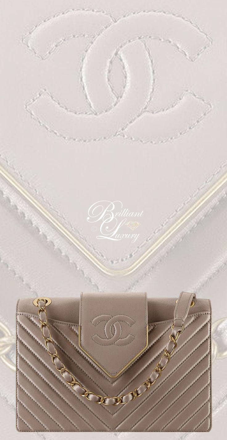 Brilliant Luxury by Emmy DE ♦Chanel Gray Sheepskin Flap Bag FW 2016/17