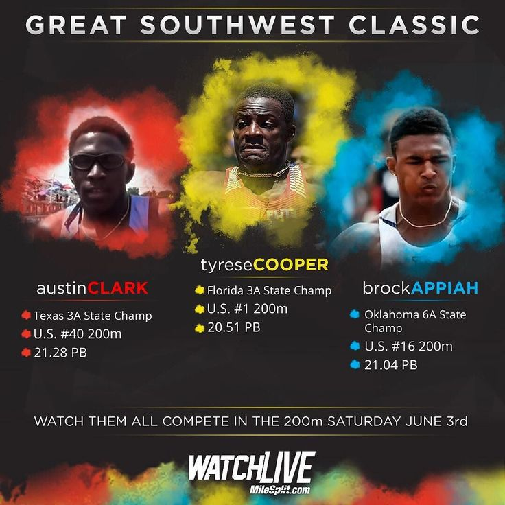 Can anyone take down Tyrese Cooper? Don't miss the Great Southwest Classic streaming LIVE on MileSplit. (LINK IN BIO)     #tyresecooper #florida #texas #200m #oklahoma #fast #champ #greatsouthwestclassic  #tracknation #trackandfield