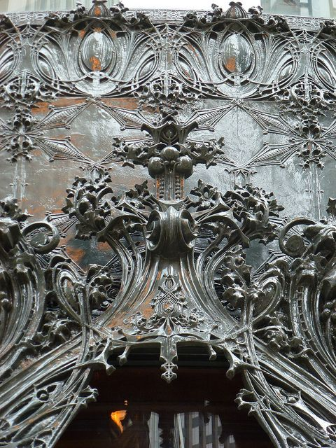 Louis H. Sullivan (1856-1924) - Cast Iron Entryway Detail. Schlesinger & Mayer Building, Chicago, Illinois. Circa 1899.