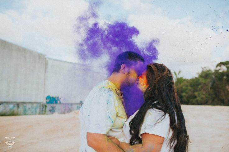 Maddy + Chris | Fun colourful holi powder engagement session | White Fox Studios