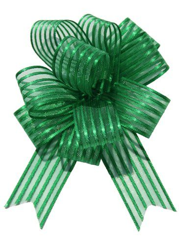 5pcs/lot Large Organza  Pull Bow Ribbon for Craft , Wedding Decoration, Green Gift Packing 50mm    LH10 #Affiliate