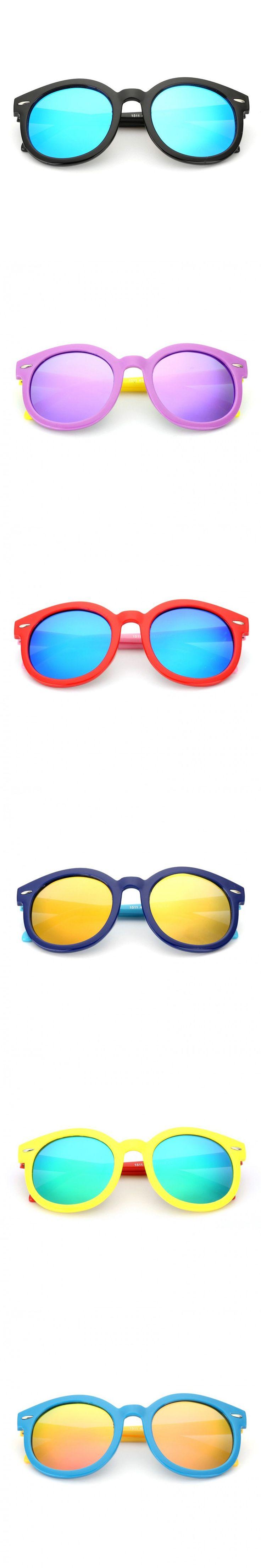 New 2016 Supper Light Mutil Color Polarized Kids Sunglasses Flexible Frame Children UV400 Sports Sun Glasses Boys Girls Eyewear