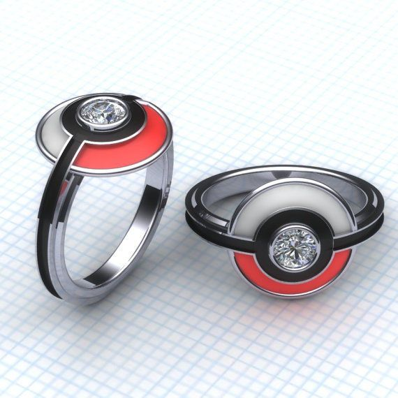 I Choose You! Pokemon wedding rings, and other nerdy things. #RightStuf2014