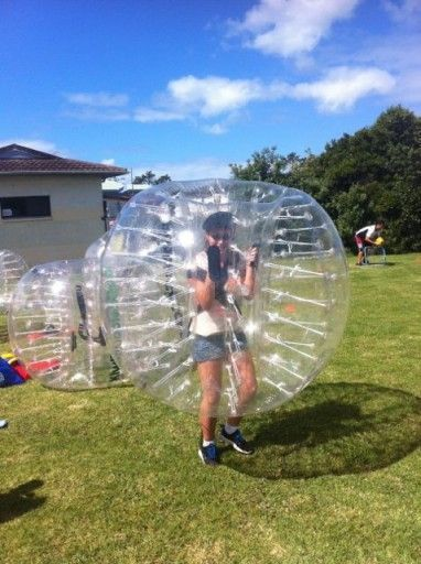 Playing Bubble Soccer in Auckland, New Zealand see more at: http://www.albomadventures.com/bubble-soccer/