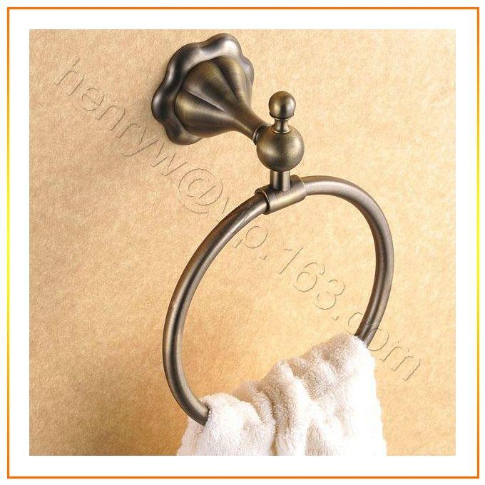Торгово-люкс латунь полотенцедержатель кольцо, Бронзовая отделка полотенцедержатель, Настенные ванная кольцо, Бесплатная доставка L15628