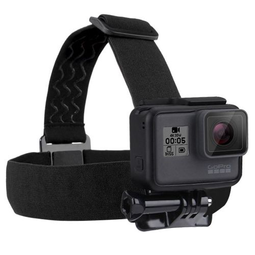 [$1.40] PULUZ Elastic Mount Belt Adjustable Head Strap for GoPro HERO6 /5 /5 Session /4 Session /4 /3+ /3 /2 /1, Xiaoyi and Other Action Cameras