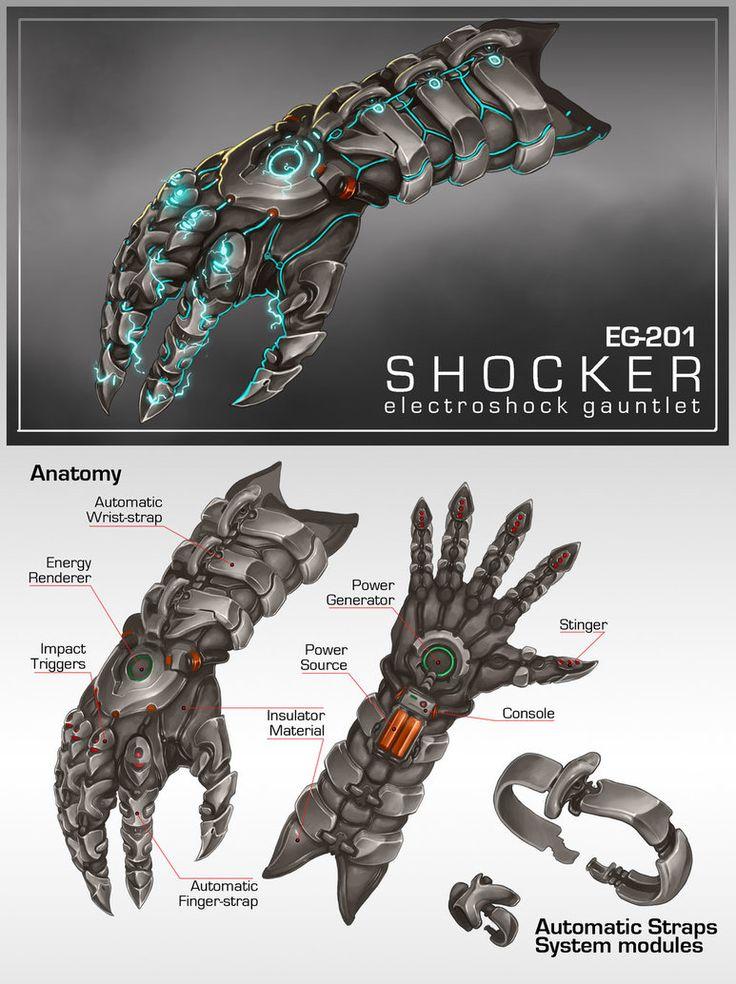 Commission: EG201 SHOCKER Gauntlet by aiyeahhs on DeviantArt