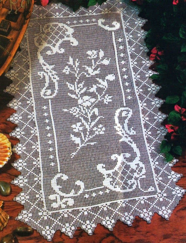 78 Best Images About Filet Crochet On Pinterest Runners
